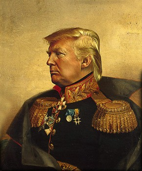 Image result for trump in military gear